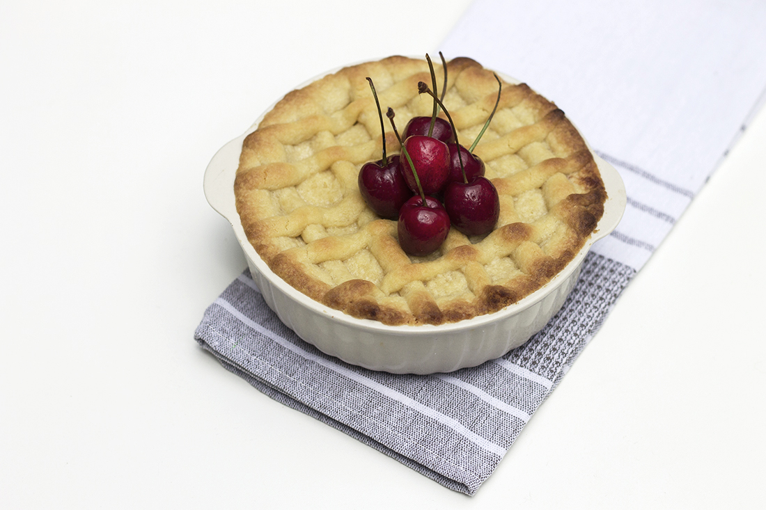 torta de cereja e nozes
