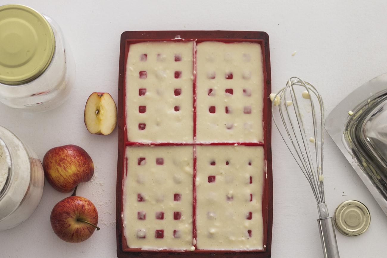 waffle de maçã
